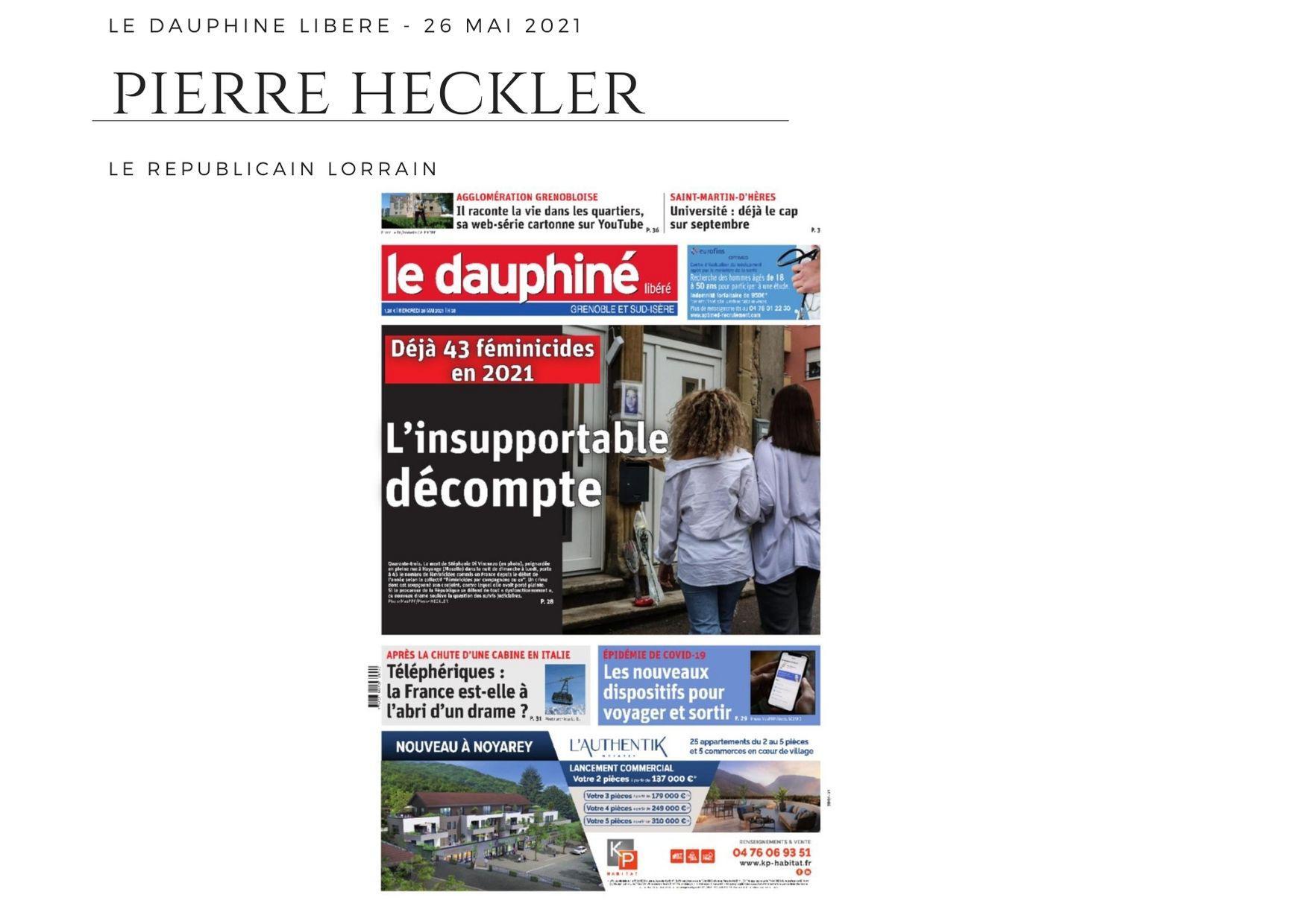 La Dauphiné Libéré - 26 mai 2021
