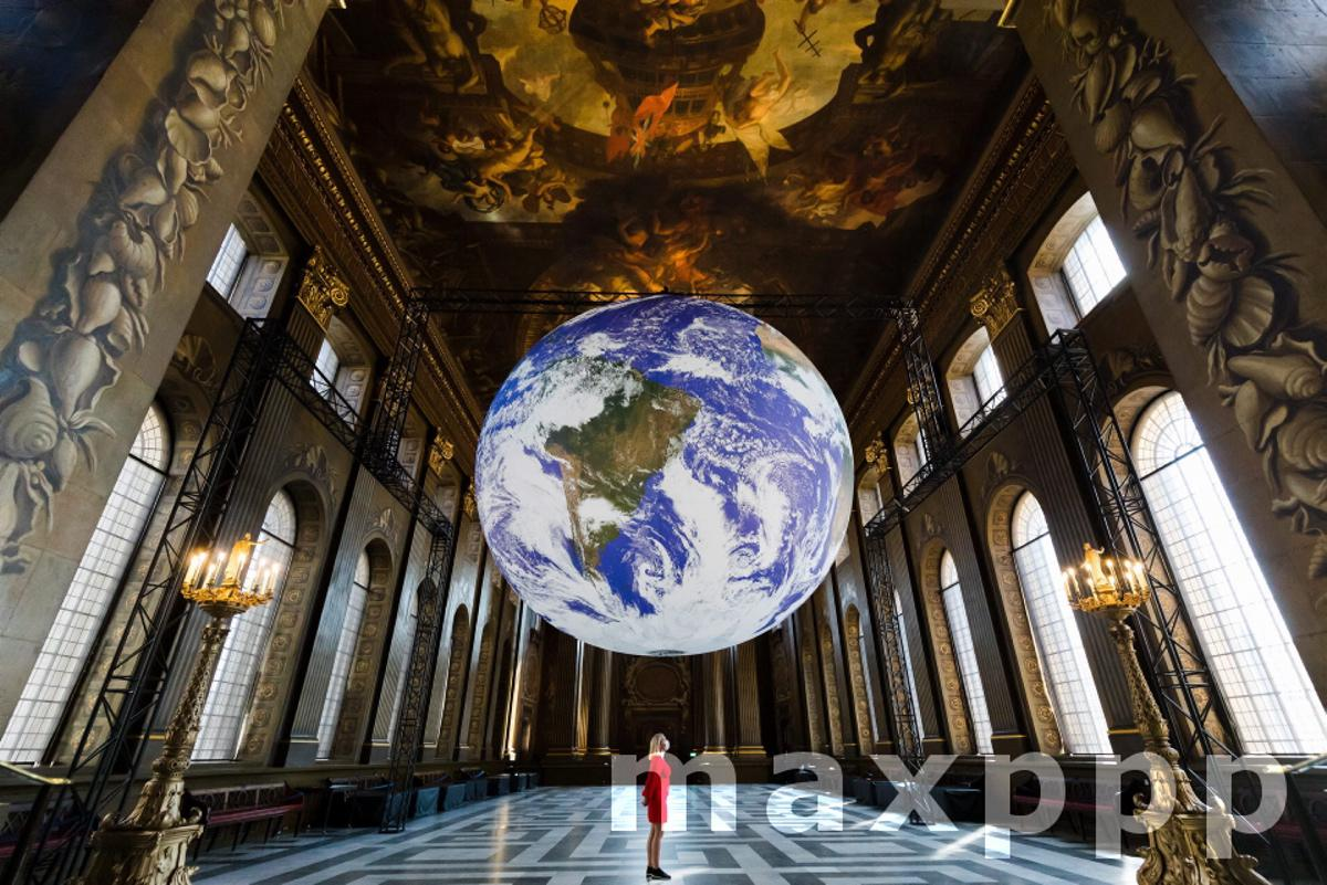 Gaia installation at Royal Naval College in Greenwich