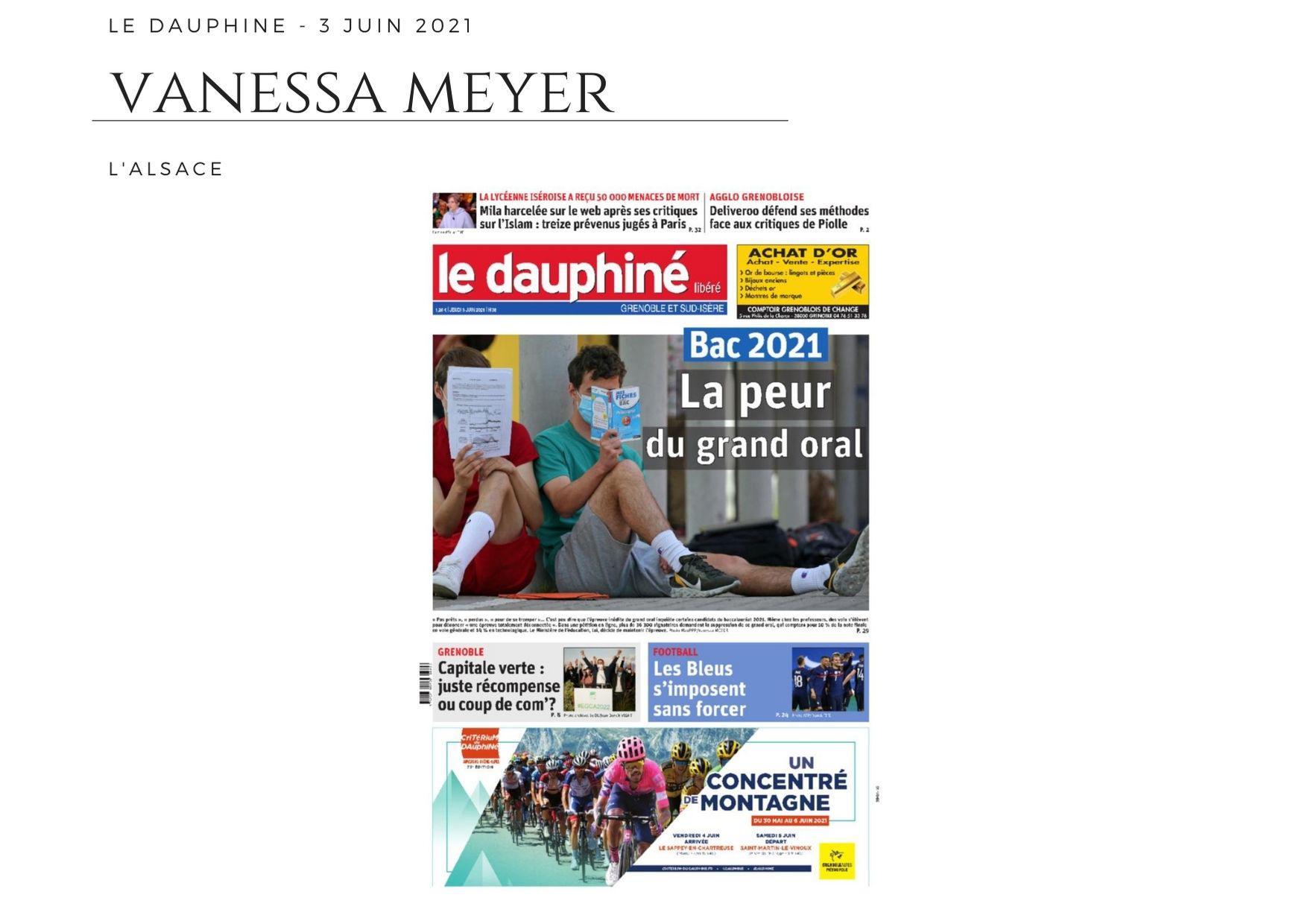 Le Dauphiné - 3 juin 2021