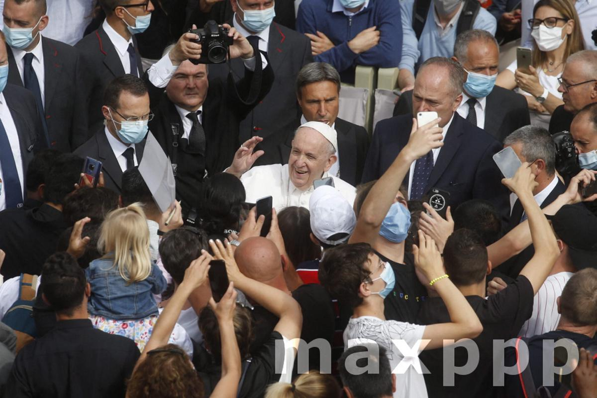 Pope Francis' general audience in the San Damaso Courtyard