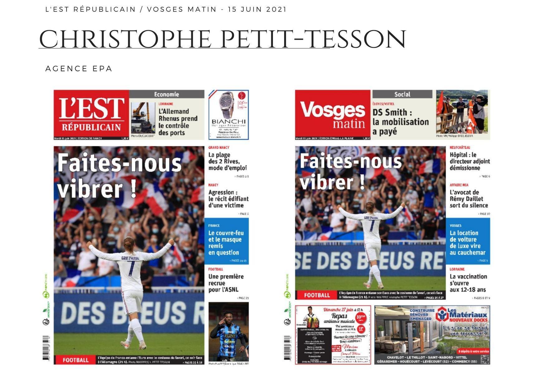 L'Est Républicain - Vosges Matin - 15 juin 2021
