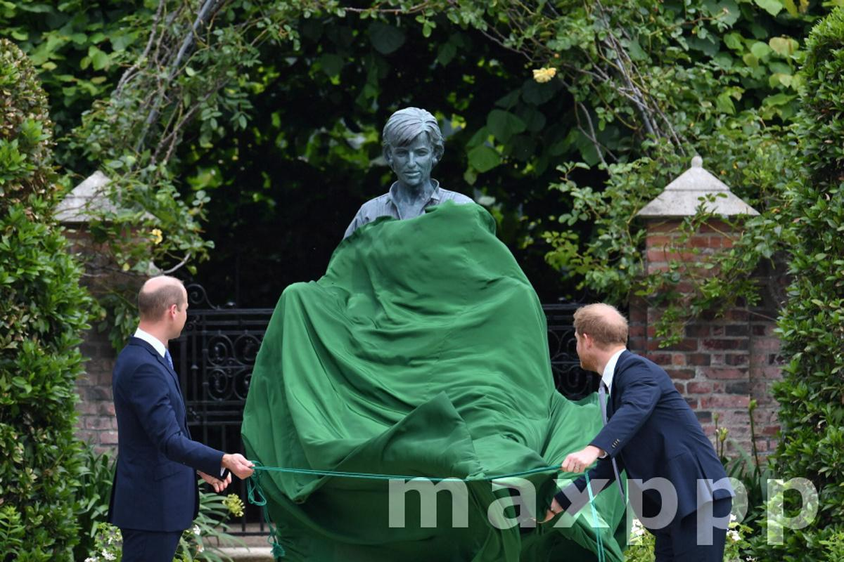 Unveiling of a statue on occasion of Princess Diana's 60th birthday