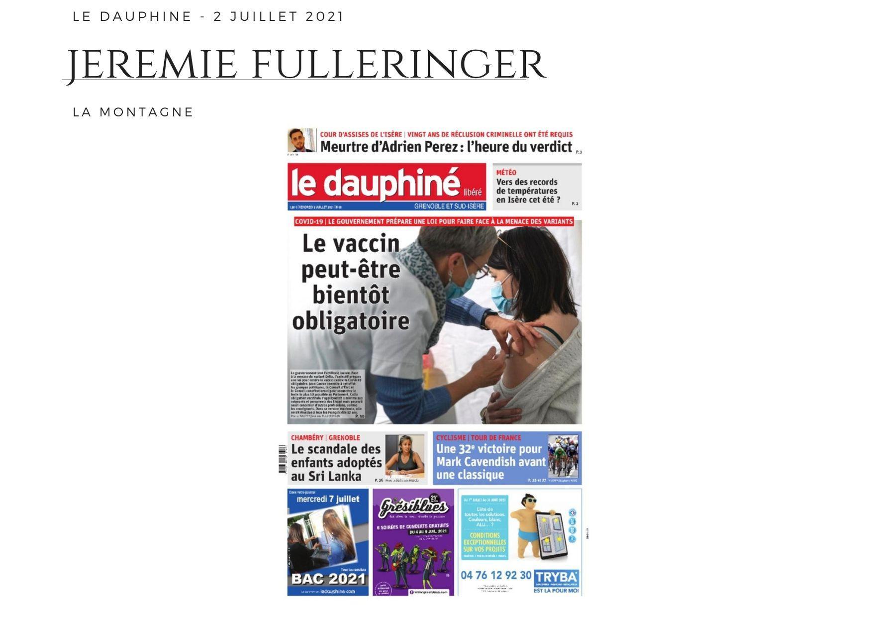 Le Dauphiné - 2 juillet 2021
