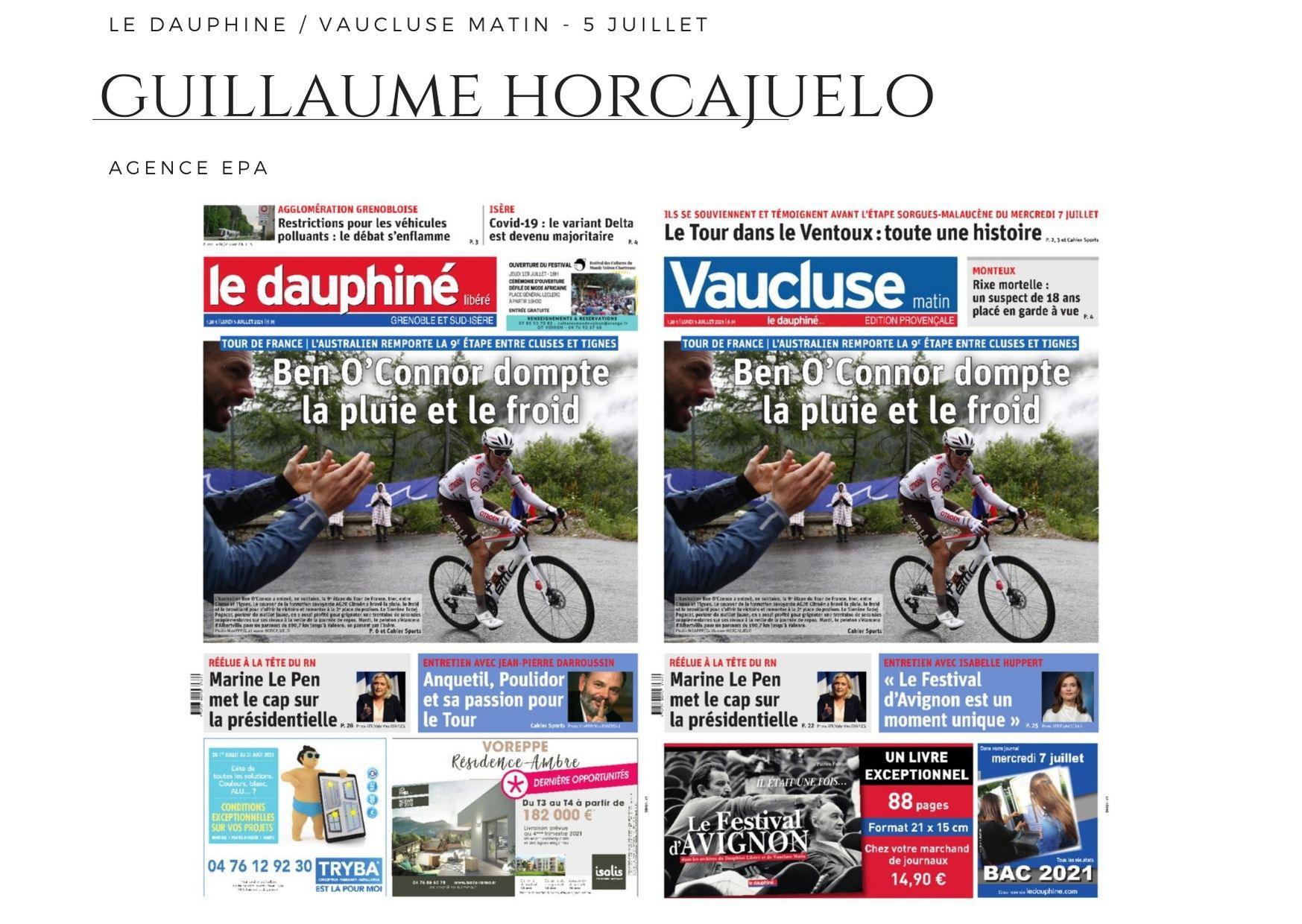 Le Dauphiné - Vaucluse Matin - 5 juillet 2021