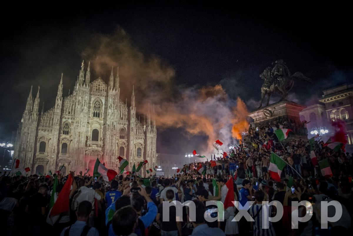 Italy: The celebrations in Milan for Euro 2020