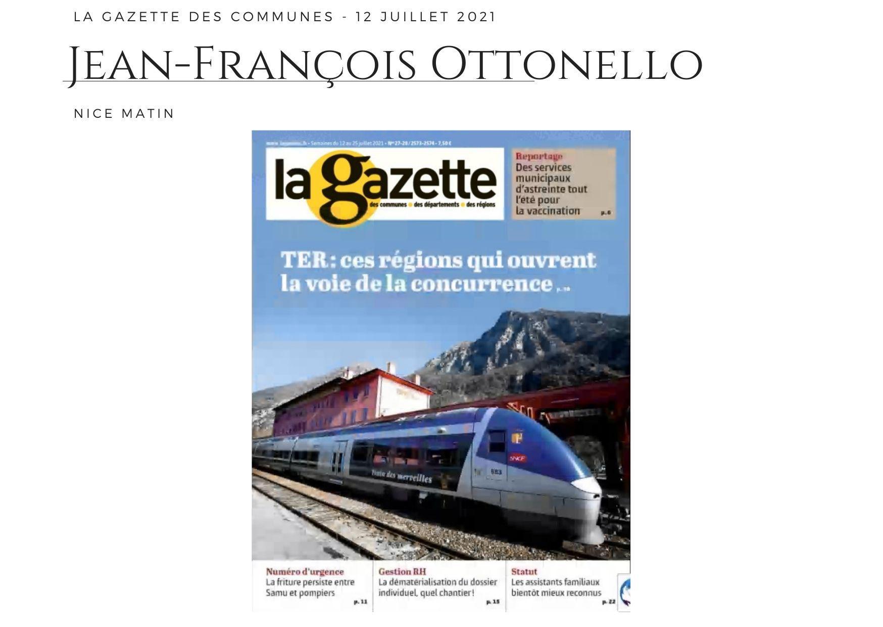 La Gazette des Communes - 12 juillet 2021
