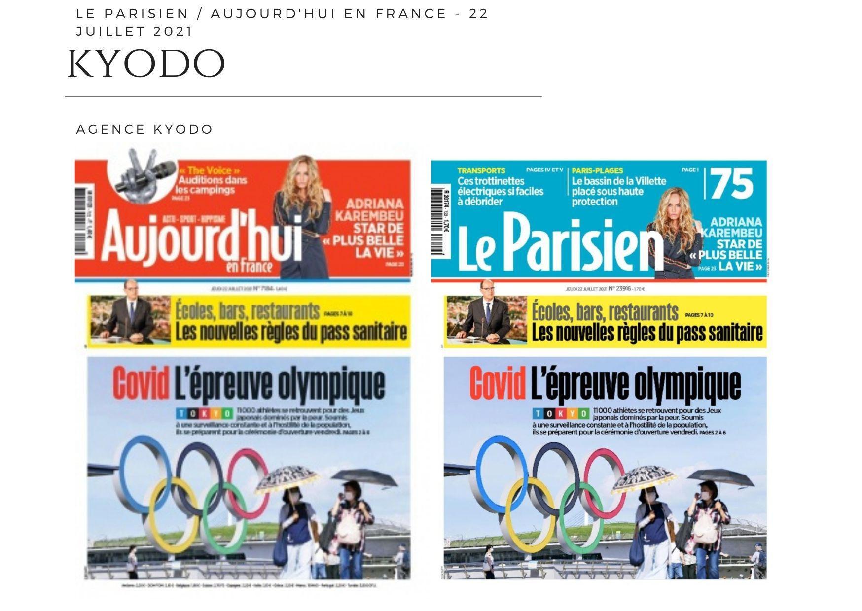 Le Parisien / Aujourd'hui en France - 22 juillet 2021