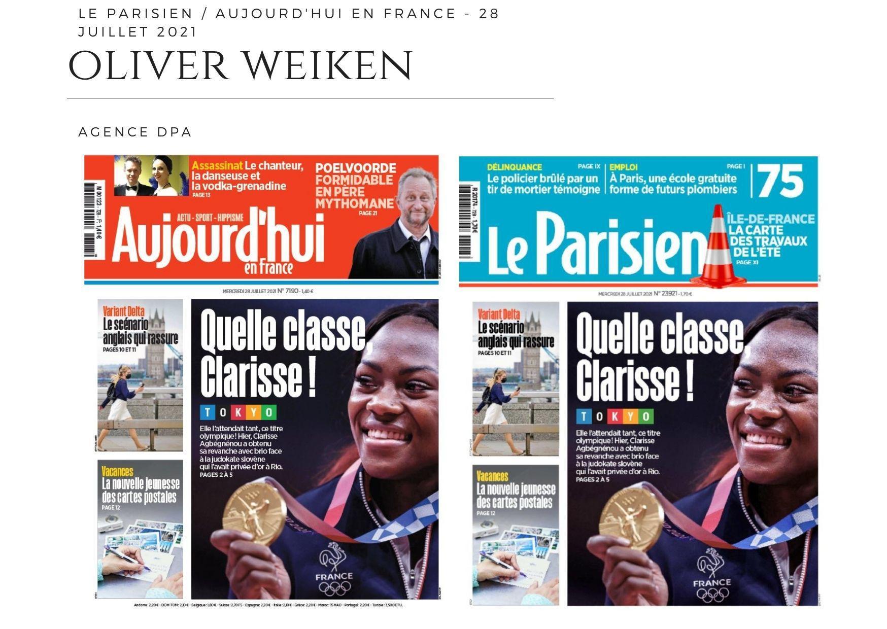 Aujourd'hui en France / Le Parisien - 28 juillet 2021