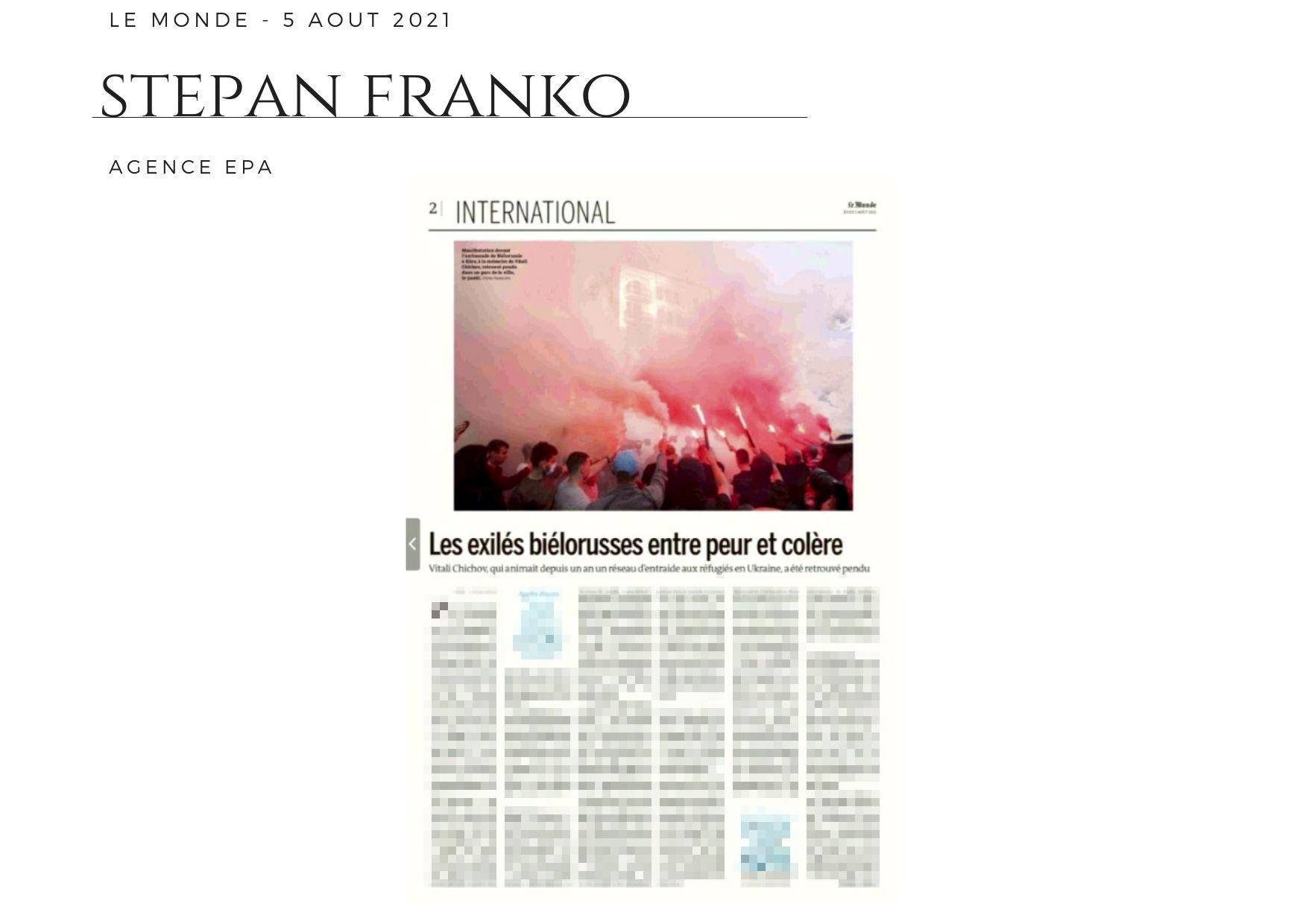 parutions-Le Monde - 5 août 2021