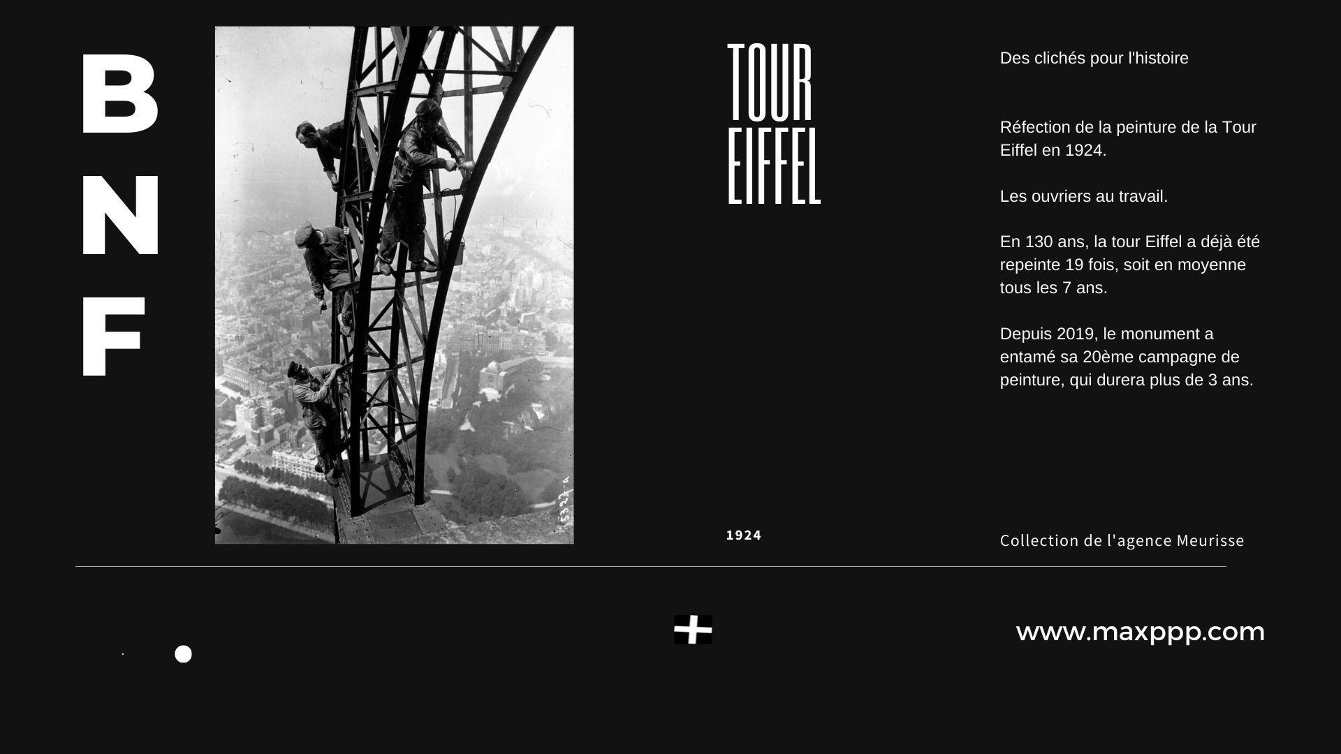 Réfection de la peinture de la Tour Eiffel