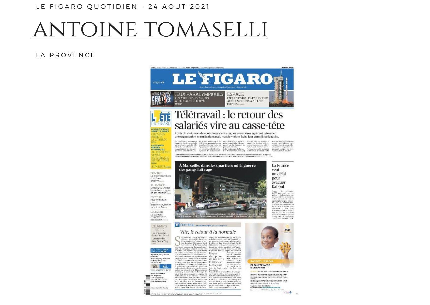 Figaro Quotidien - 24 août 2021