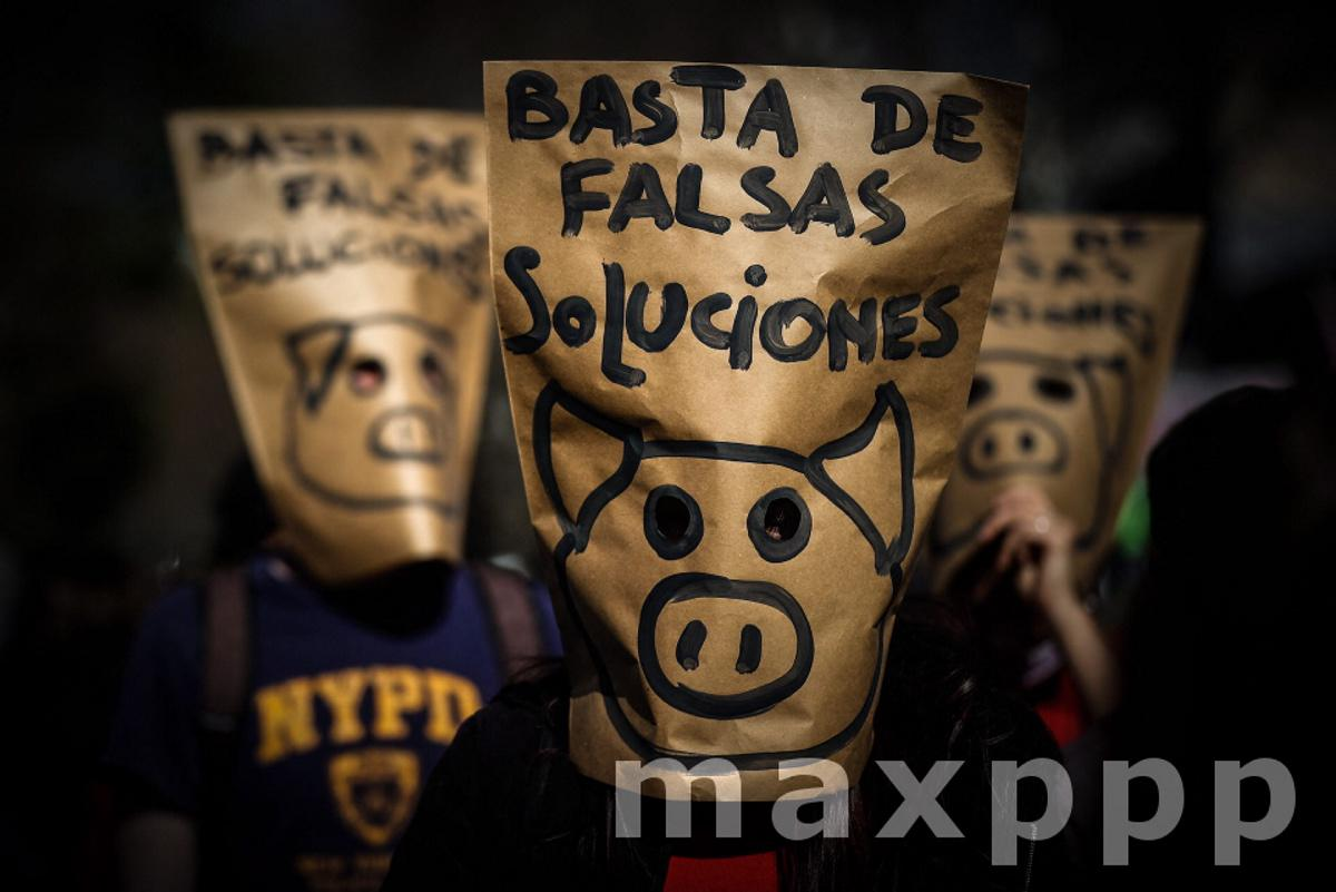 Environmentalists protest against deal for large-scale production of pork