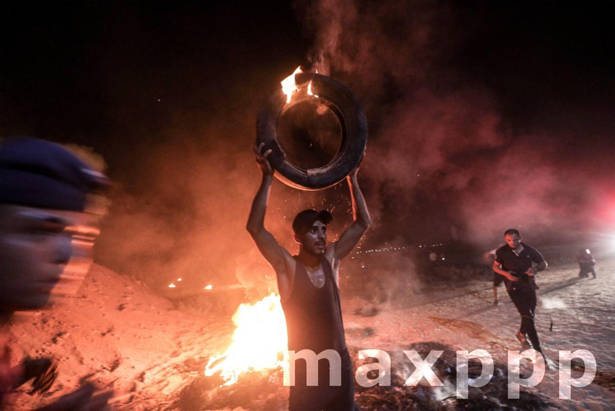 Protest at the Jabaliya refugee camp in the Gaza Strip