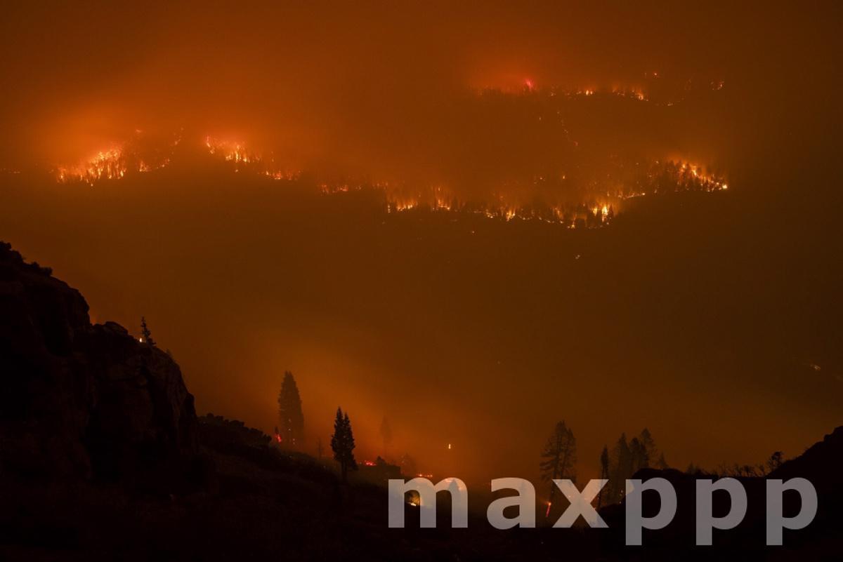 Caldor Fire near South Lake Tahoe