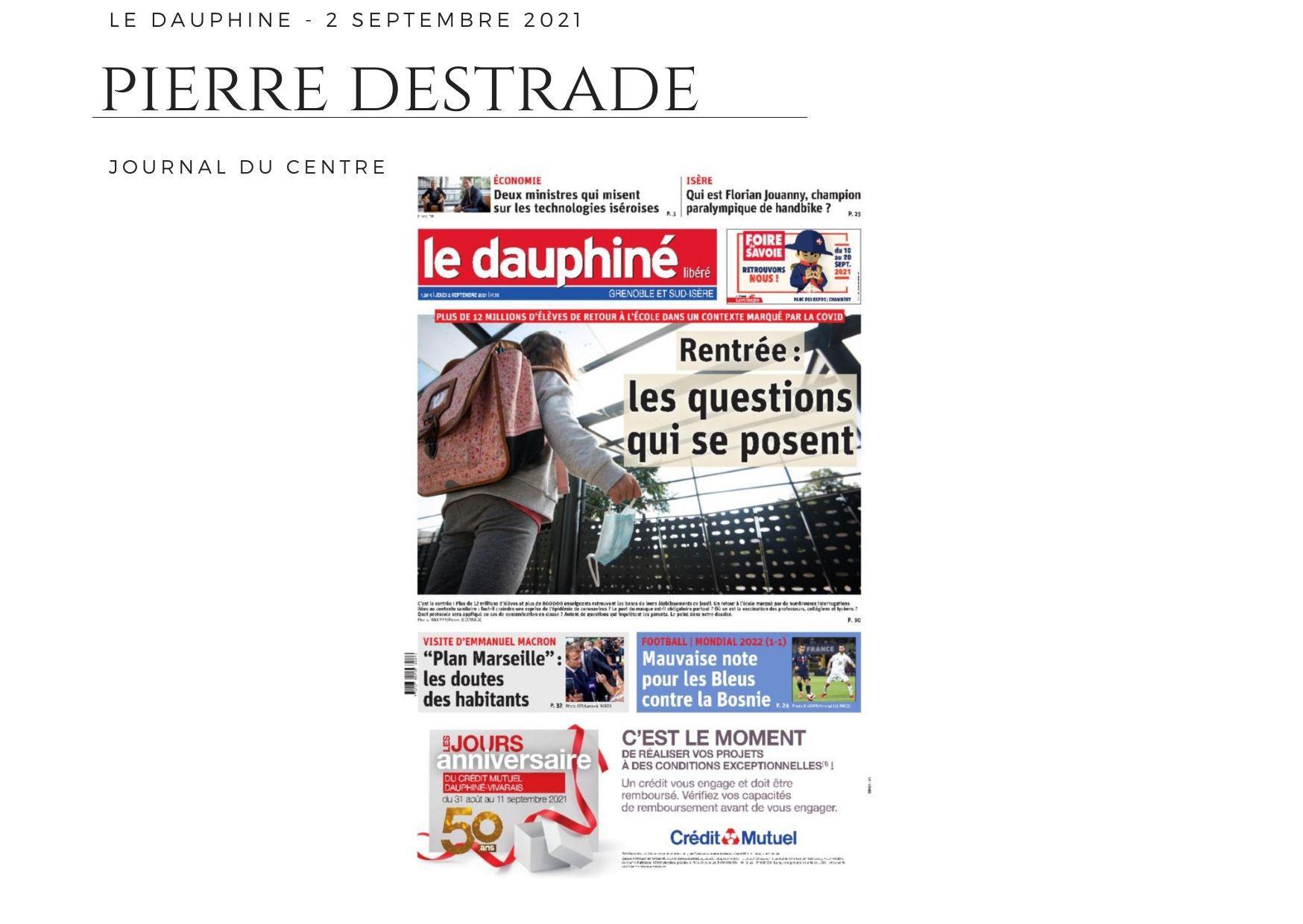 Le Dauphiné - 2 septembre 2021