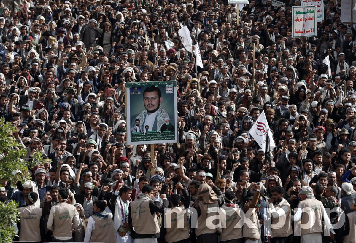 Houthis supporters rally against Saudi-led coalition