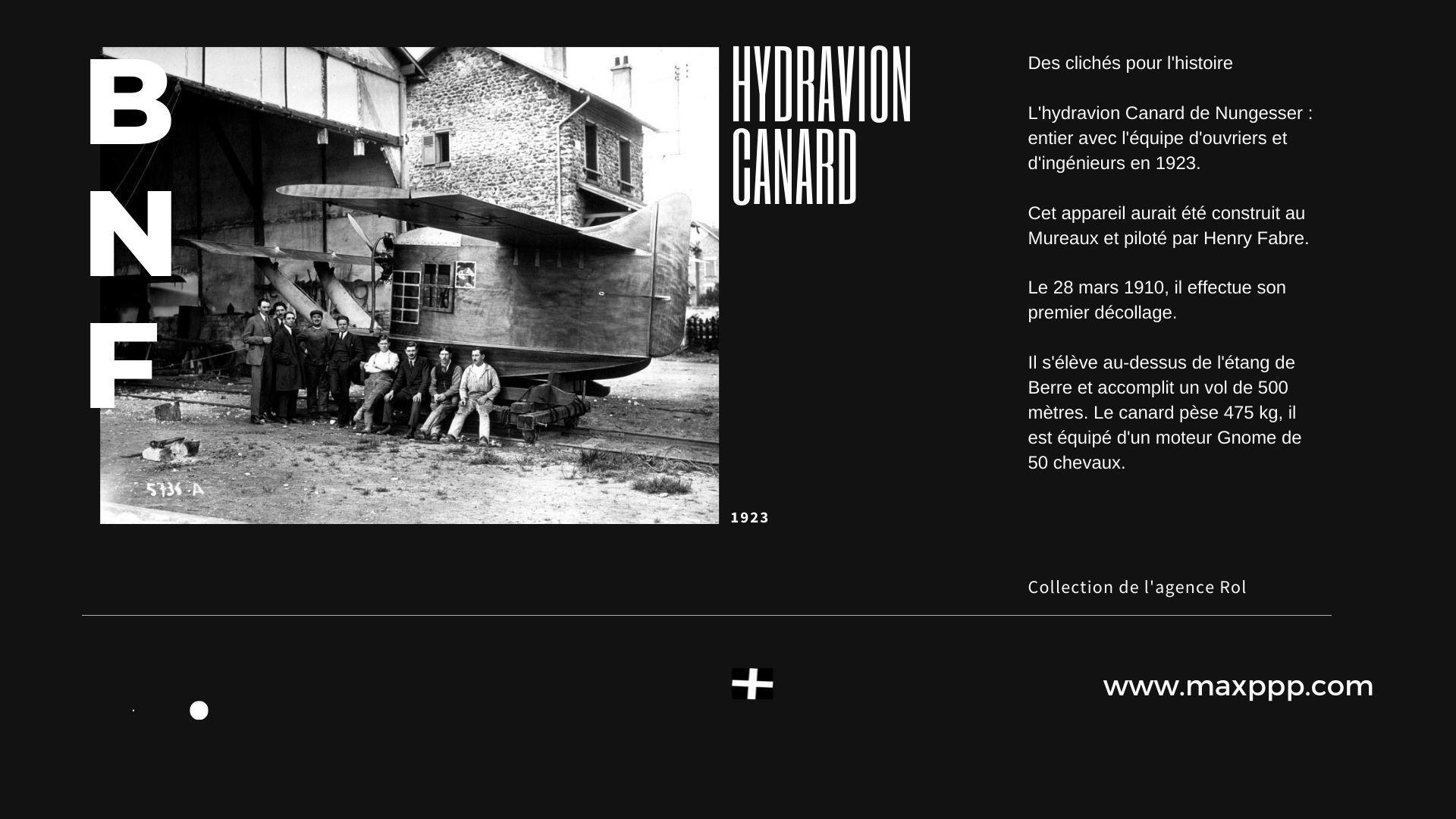 Hydravion canard