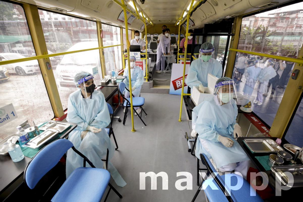 COVID-19 mobile vaccination unit as Thailand eyes reopening to tourism