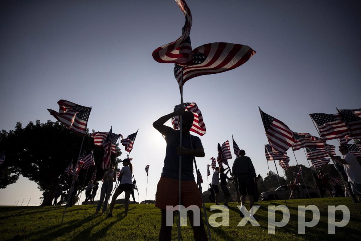 9/11 20th anniversary preparation at Pepperdine University in Malibu