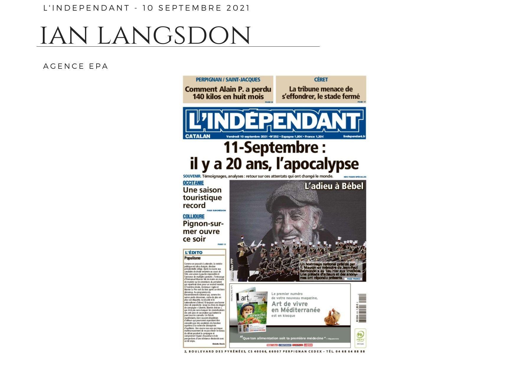 L'Indépendant - 10 septembre 2021