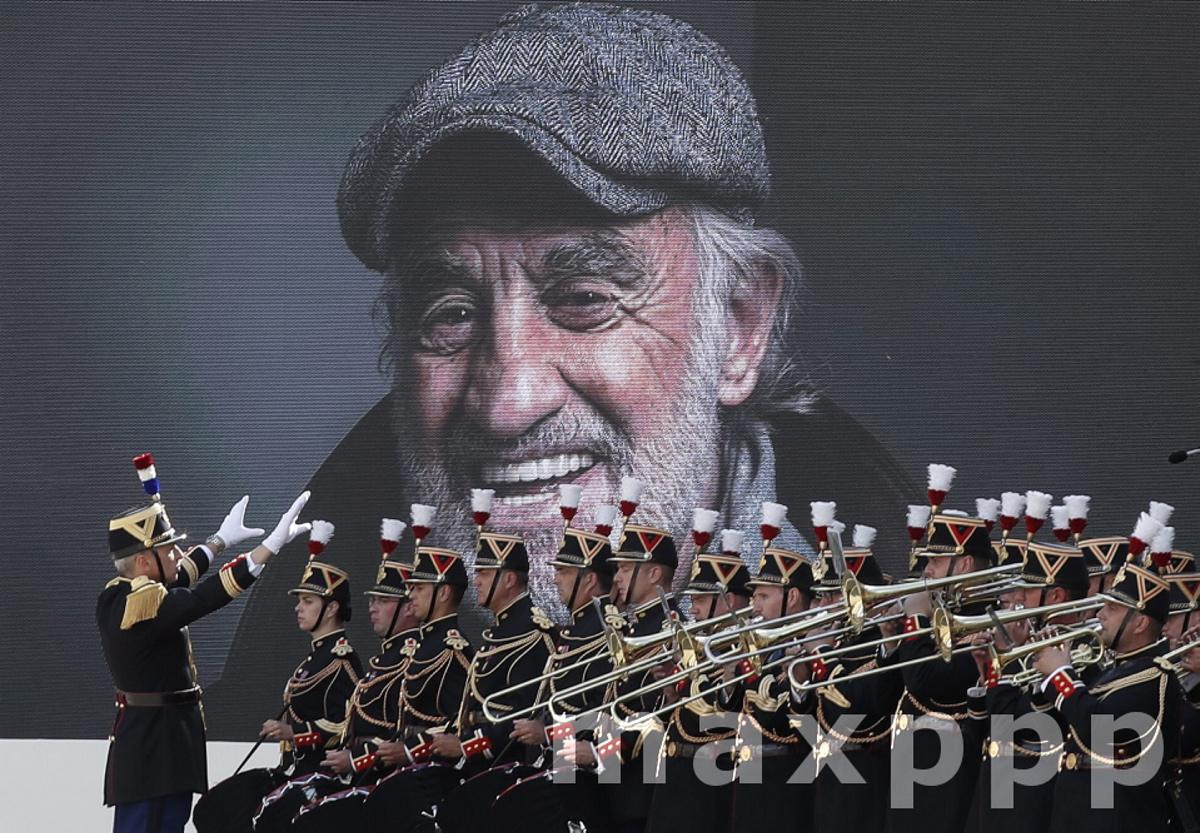 Tribute ceremony for late French actor Jean Paul Belmondo