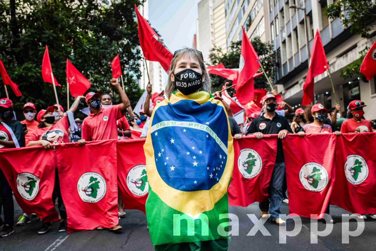 Anti government protest in Belo Horizonte, Brazil