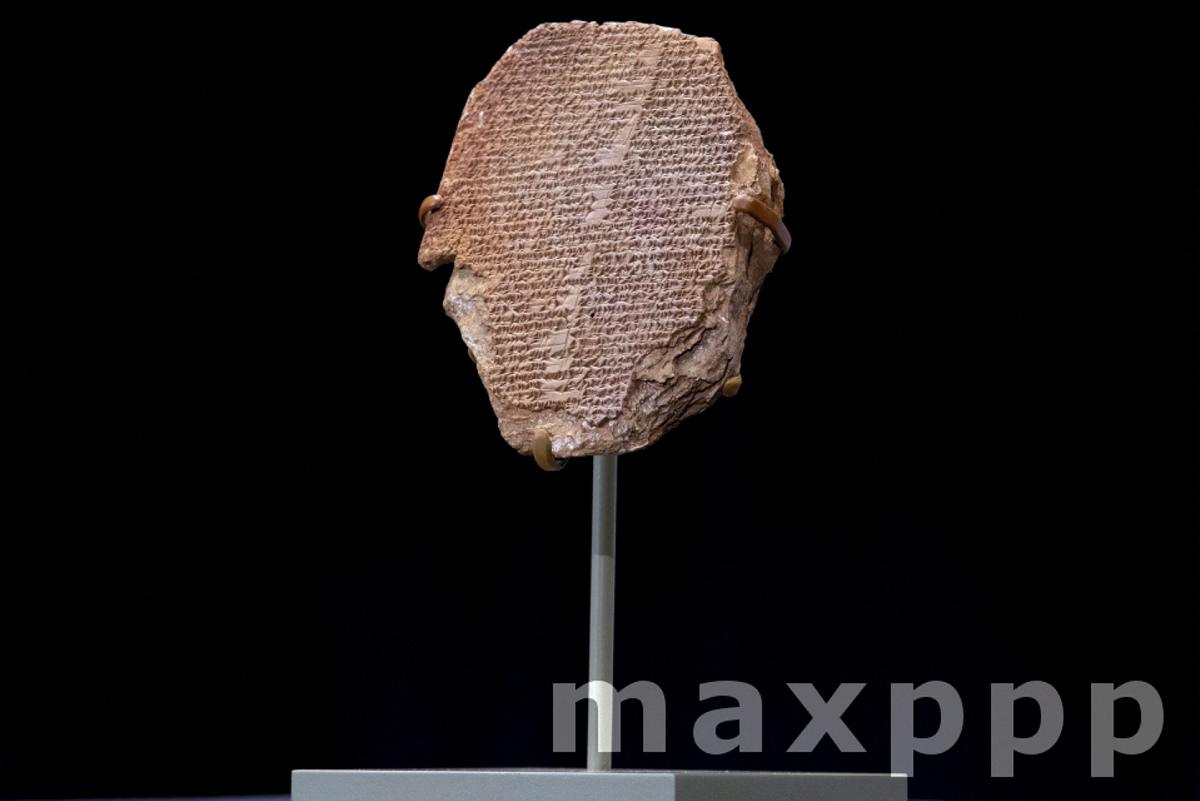 Repatriation ceremony of Gilgamesh tablet and a Sumerian ram sculpture to Iraq