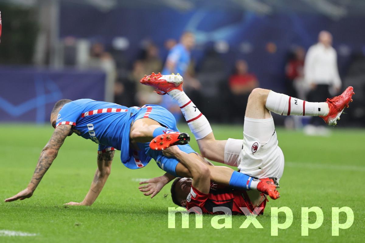 UEFA Champions League football match - AC Milan vs Atletico Madrid, Milan, Italy