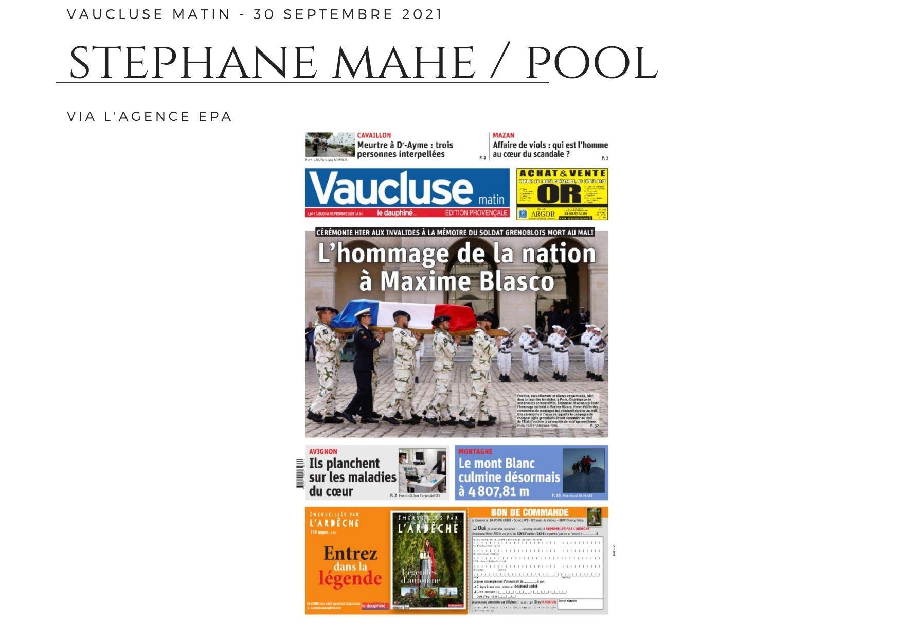 Vaucluse Matin - 30 septembre 2021