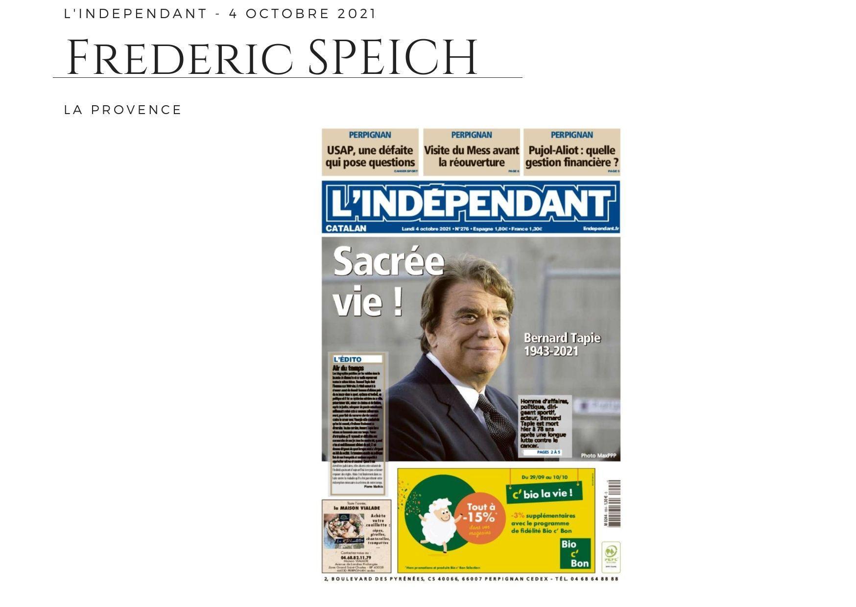 L'Indépendant - 4 octobre 2021