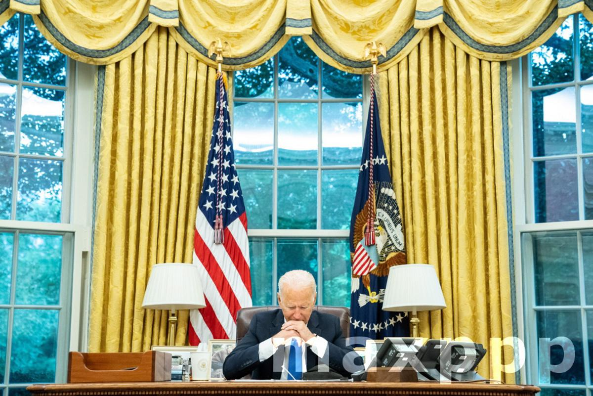President Biden On Phone With French President
