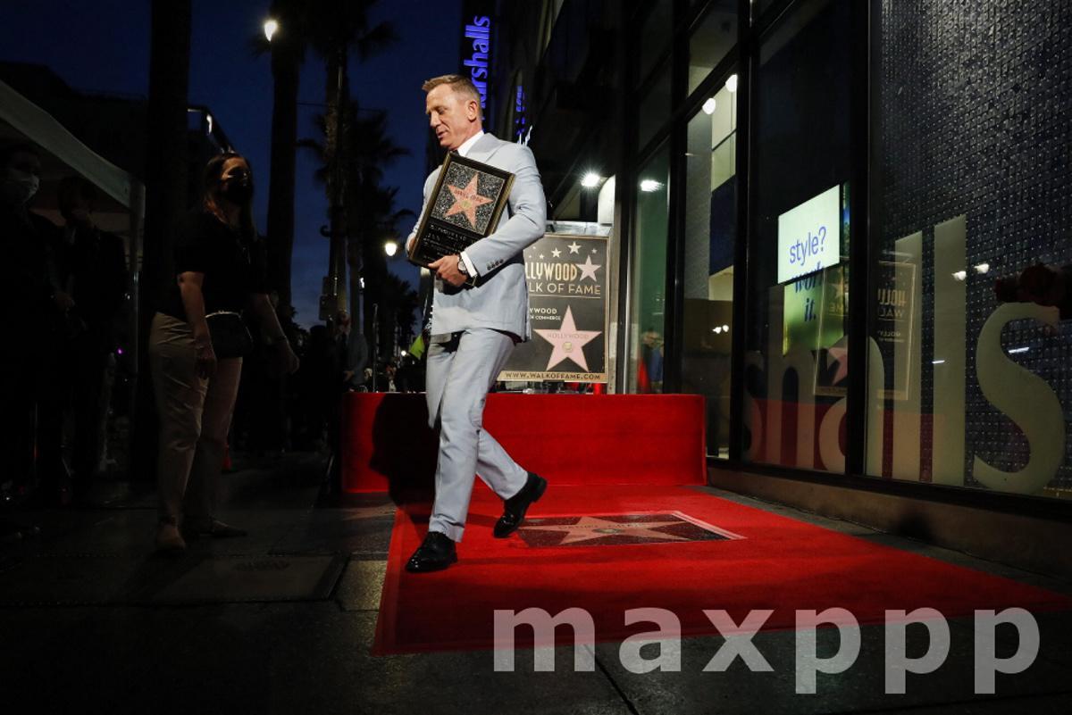 Actor Daniel Craig Recieves Star on Hollywood Walk of Fame