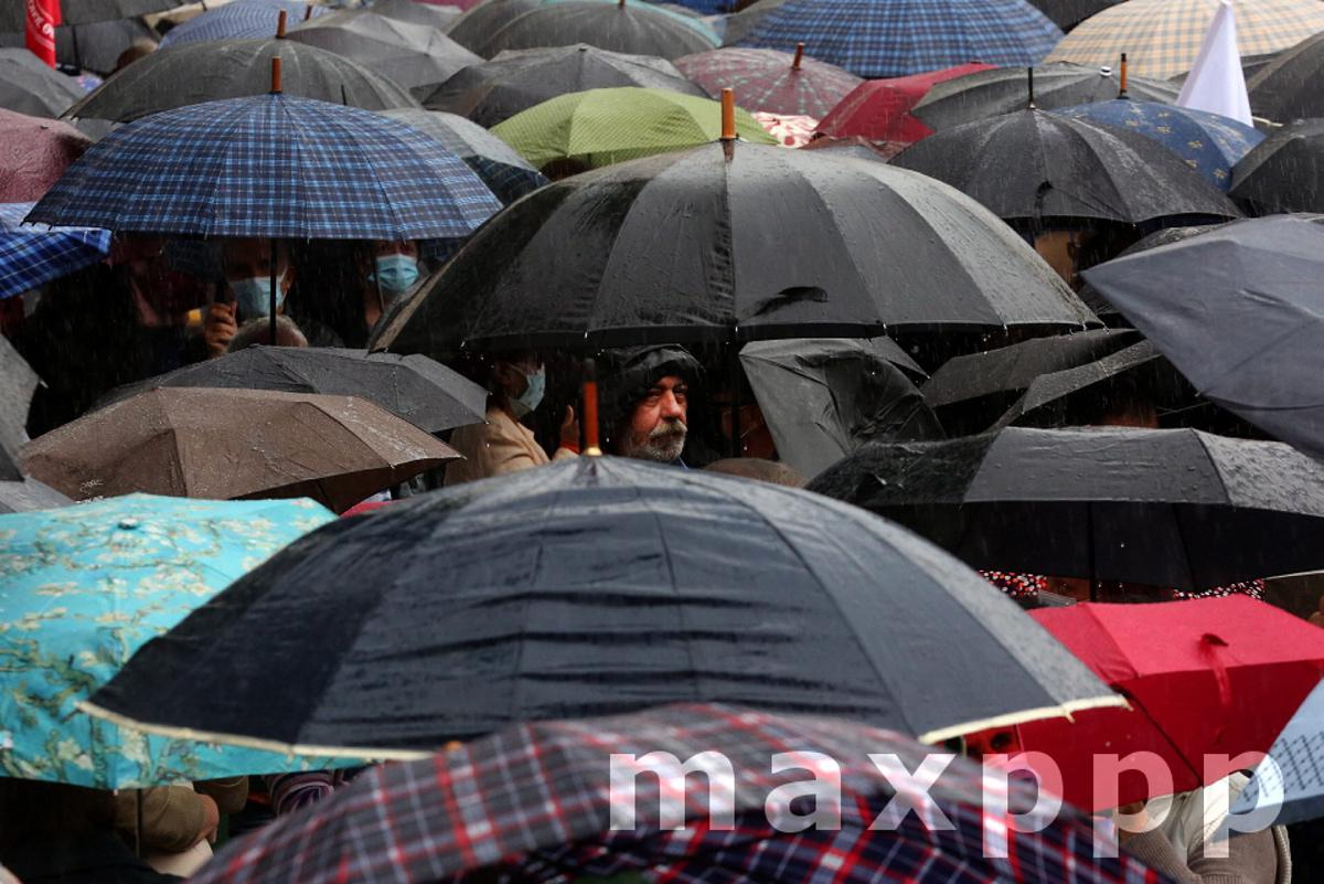 Greek pensioners protest in Athens