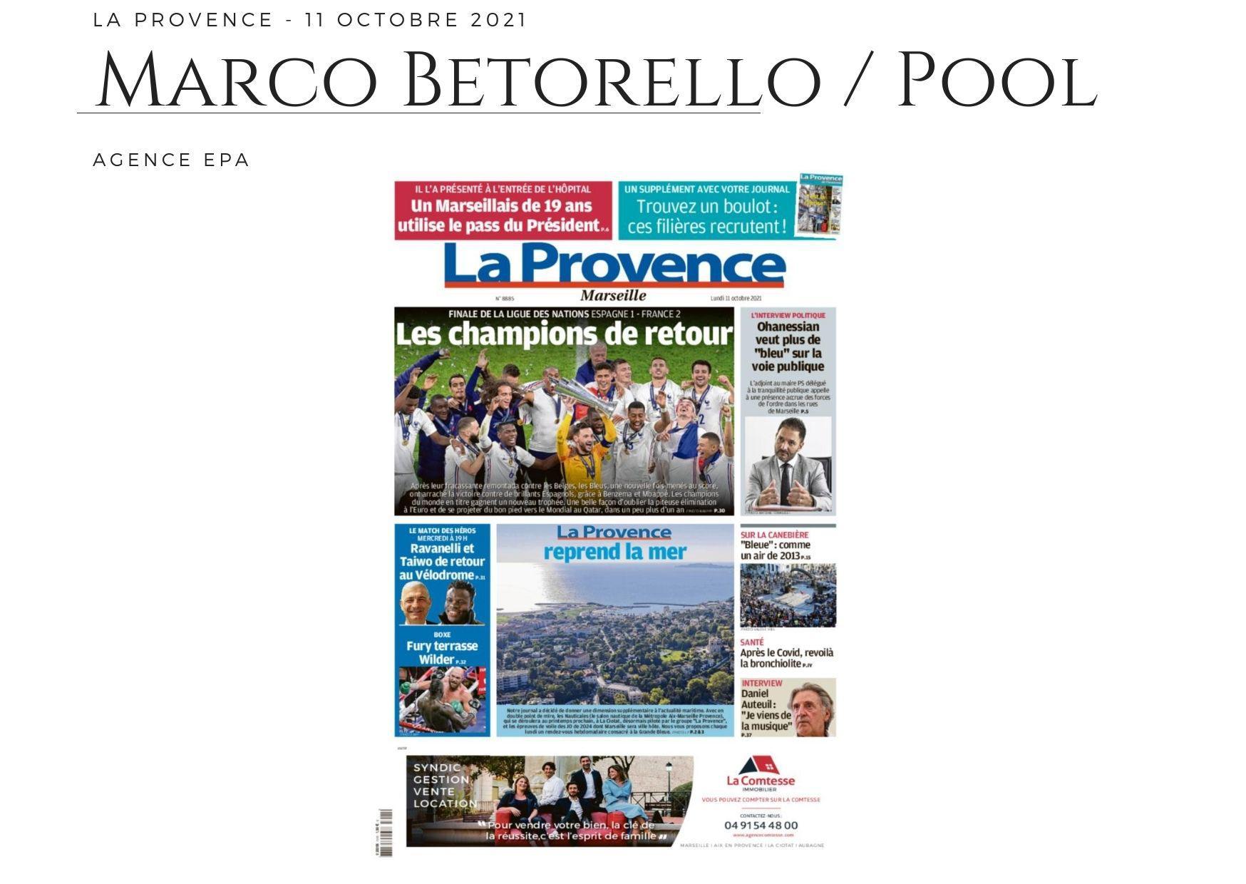 La Provence - 11 octobre 2021