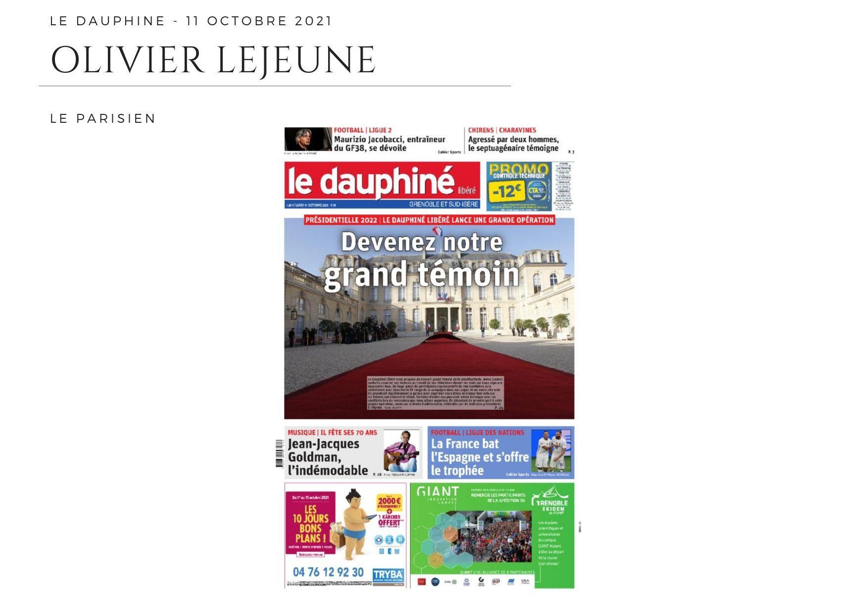 Le Dauphiné  - 11 octobre 2021