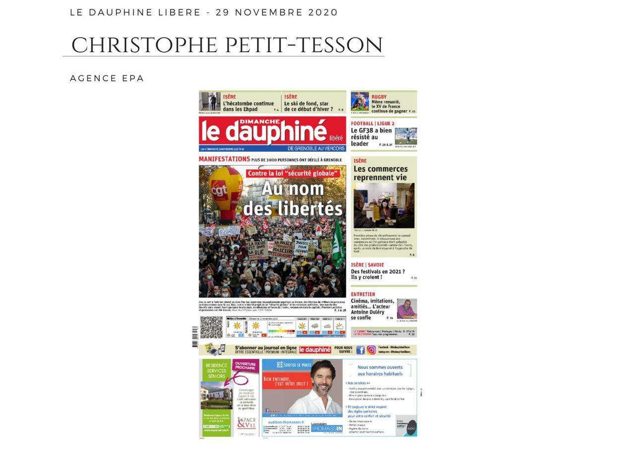 Le Dauphiné Libéré - 29 novembre 2020