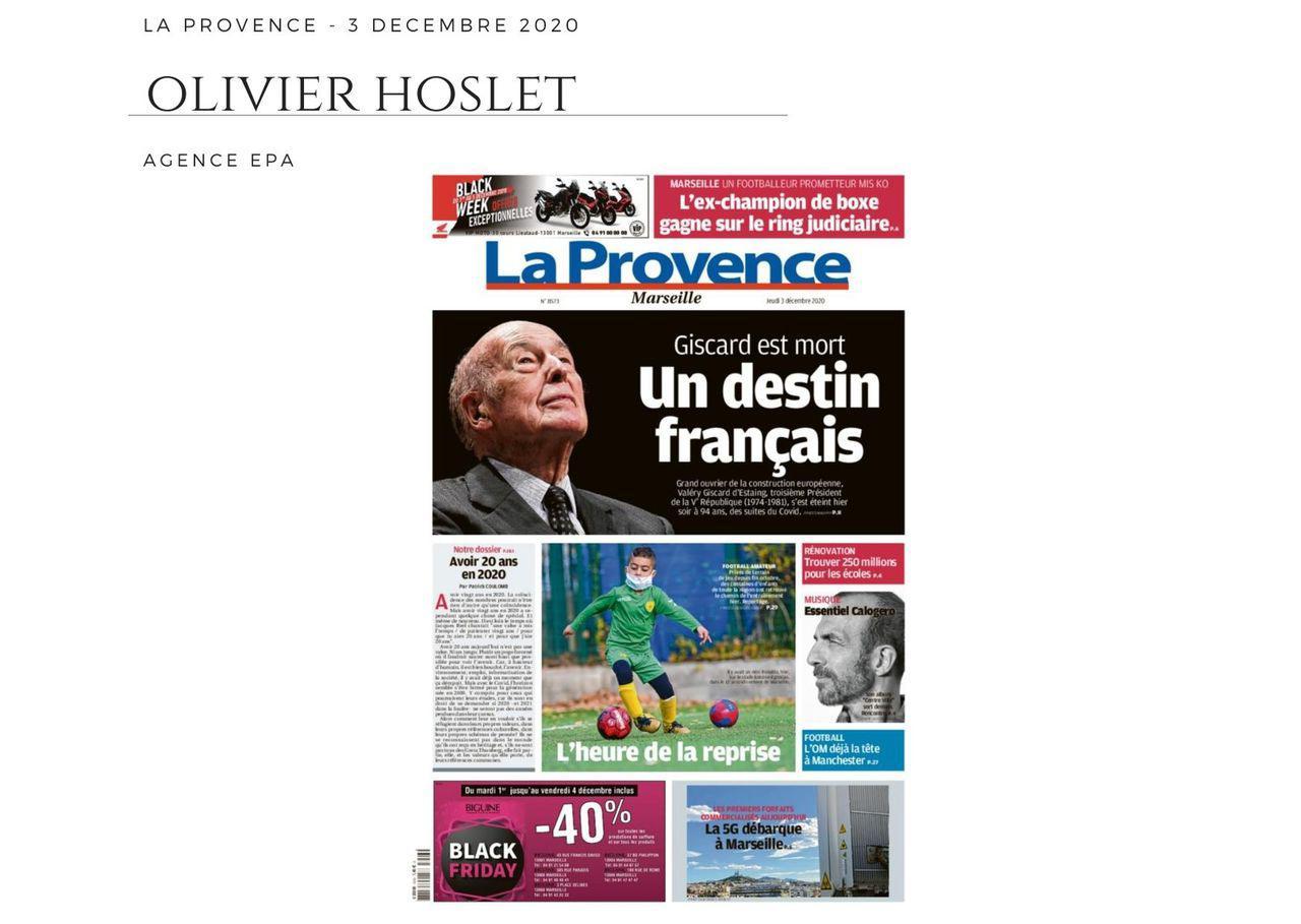 La Provence - 3 décembre 2020