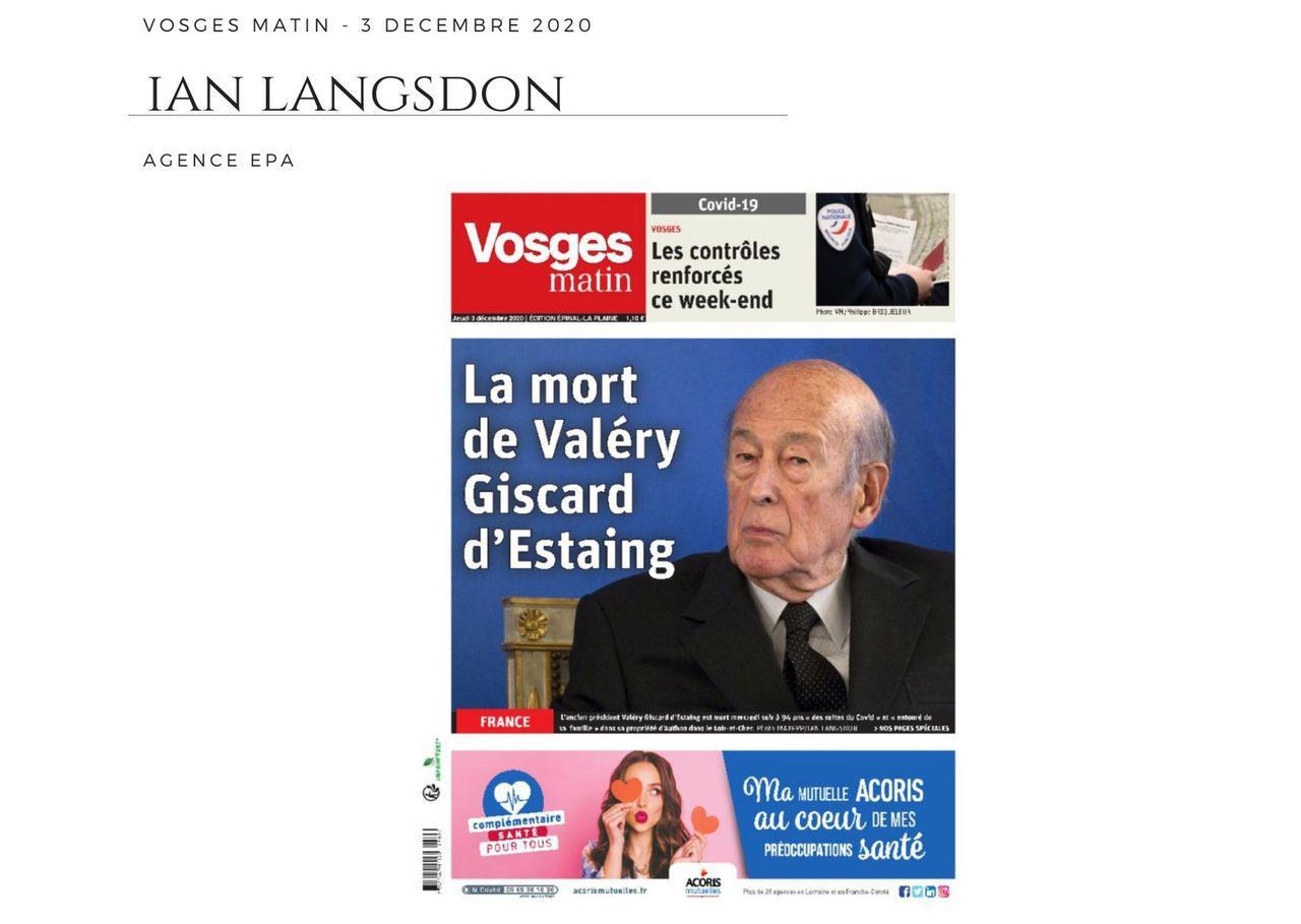 Vosges Matin - 3 décembre 2020