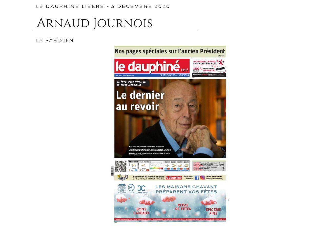 Le Dauphiné Libéré - 3 décembre 2020