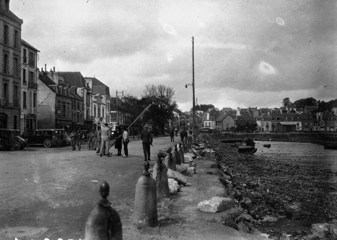 1930, tempête à Concarneau