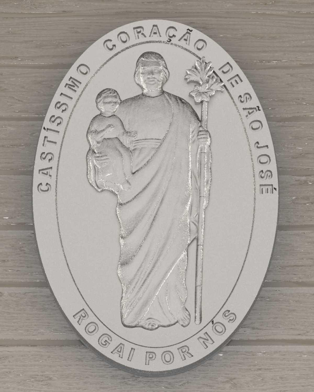 Medallion of the Most Chaste Heart of Saint Joseph: participate in the campaign for manifesting this request of our Beloved Instructor