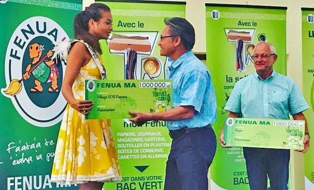 Miss Tahiti aux côtés des Tortues de cœur : trions solidaire avec FENUA MA !