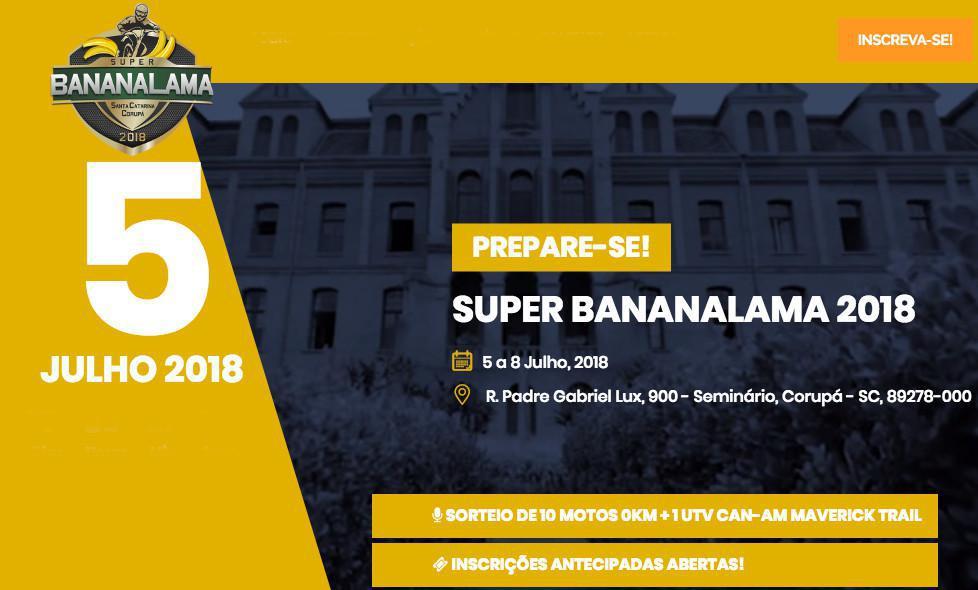 Super Bananalama 2018 promete agitar Corupá (SC)