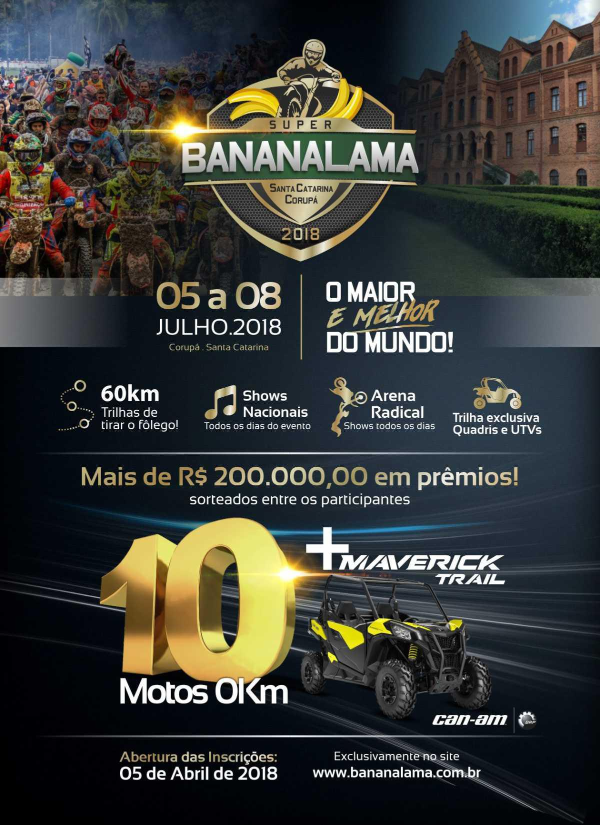 Borilli Racing - Pneus Off Road confirma patrocínio ao Super Bananalama 2018