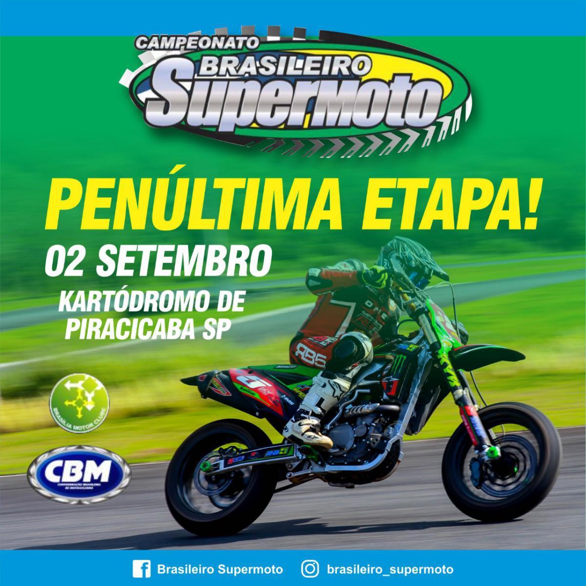 5ª etapa do Brasileiro de Supermoto foi transferida para Piracicaba/SP