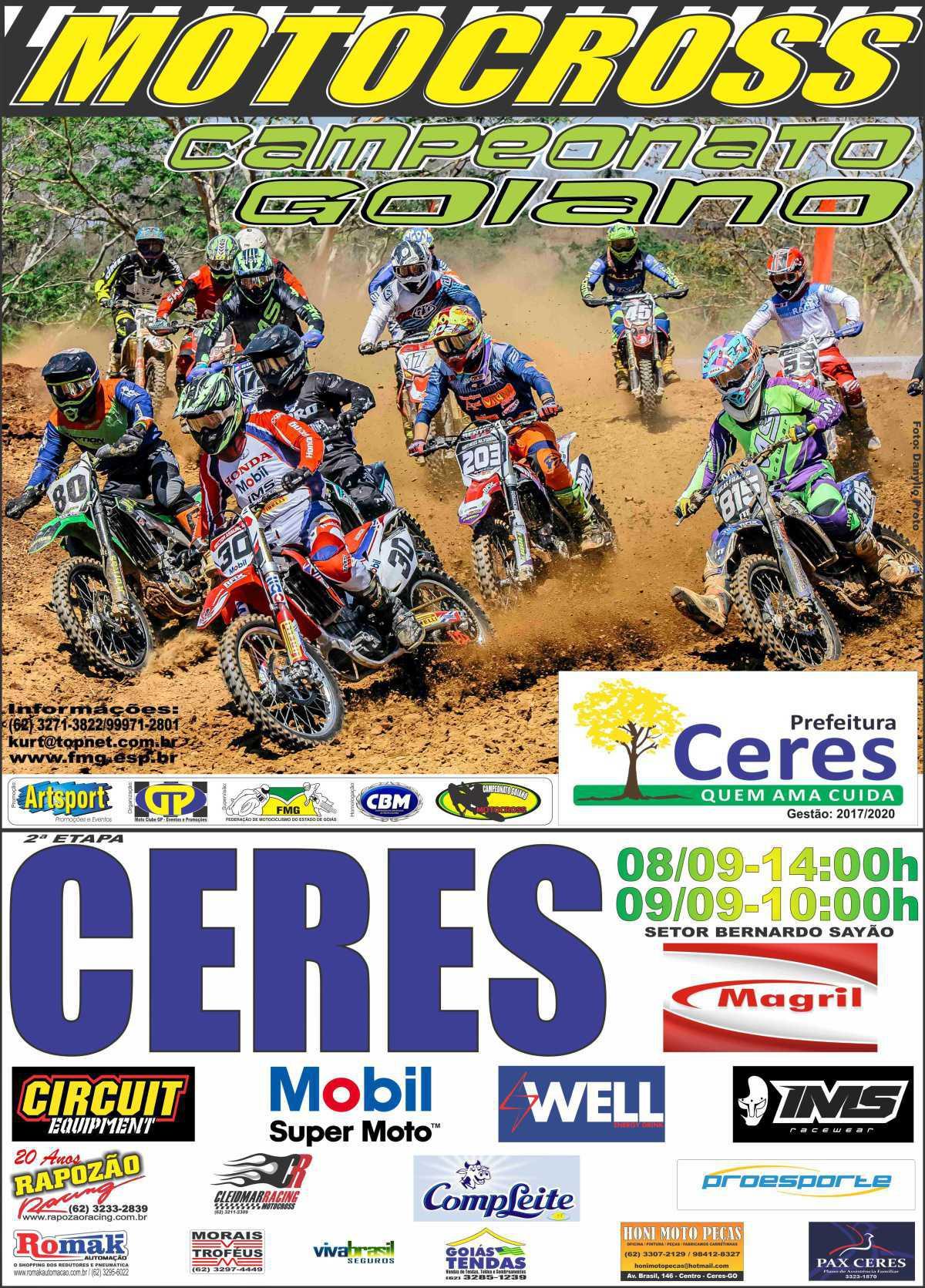 Ceres recebe a segunda etapa do Goiano de Motocross