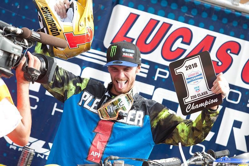 AMA MX 250 : Plessinger Clinches conquista o campeonato e Hampshire Ganha a primeira vitoria na carreira.