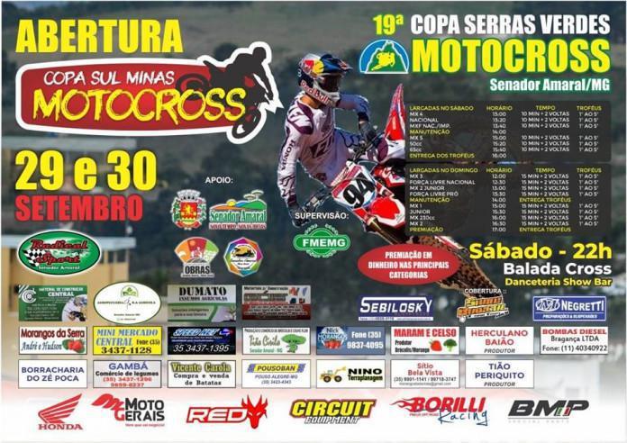 Abertura da Copa Sul Minas de Motocross – 29 e 30 de setembro Senador Amaral/MG