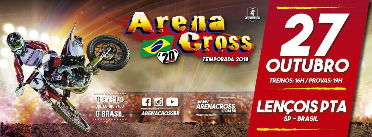 Lençóis Paulista recebe a quarta etapa do Arena Cross dia 27 de outubro