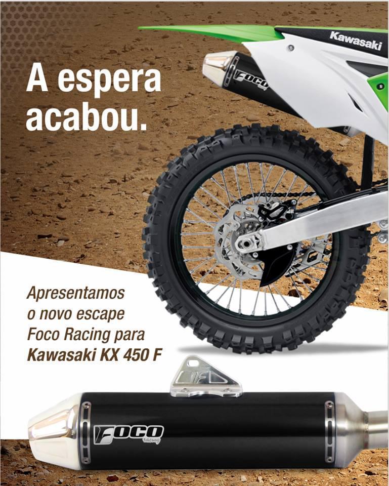 Foco Racing lança seu novo escapamento para Kawasaki KX 450 F